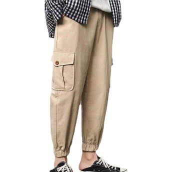 maweisong Men's Relaxed Fit Tactical Combat Cargo Trousers Work Pants with Multi Pocket Khaki XL