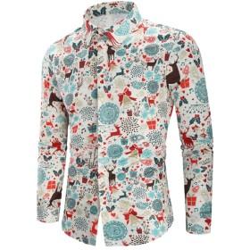 cheelot メンズデジタルプリントシムフィットクリスマスの日ポロシャツ 2 L