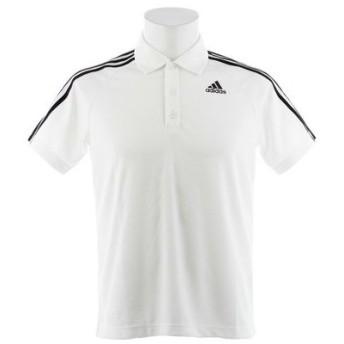 アディダス(adidas) D2M トレーニング3ストライプポロシャツ BVA63-BK2602 (Men's)