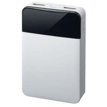モバイル充電器 10000mA ホワイト GH-BTF100-WH ホワイト [10000mAh /2ポート /充電タイプ]