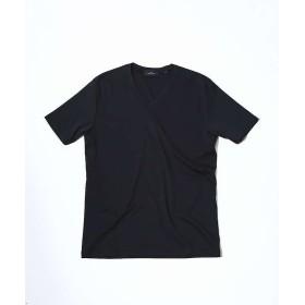 【30%OFF】 アバハウス ローズペトール VネックTシャツ メンズ ブラック 46 【ABAHOUSE】 【セール開催中】