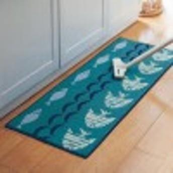 汚れが落ちやすい糸を使ったずれない床ピタキッチンマット[日本製]