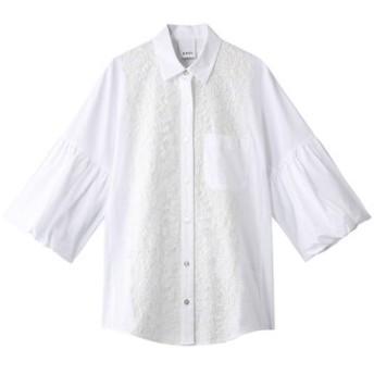 Kaon カオン レースコンビネーションシャツ ホワイト