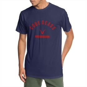 メンズ 綿 半袖 野球 Tシャツ コードギアス 反逆のルルーシュIII 皇道 スポーツ服 吸汗速乾 クルーネック 丸首 軽い 柔らか ブラックホワイトラグラン 野球 トップス半袖 ブラウストップス