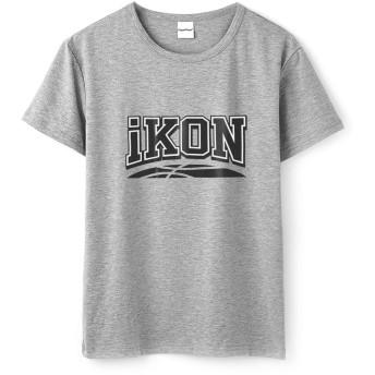 Fanstown kpop 韓流人気グループ IKON「NEW KIDS」テーマロゴやメンバー名と生まれ年のTシャツ+バッジ