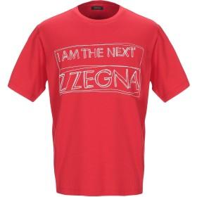 《期間限定セール開催中!》ZZEGNA メンズ T シャツ レッド L コットン 100%