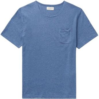 《9/20まで! 限定セール開催中》OLIVER SPENCER メンズ T シャツ スカイブルー M コットン 100%