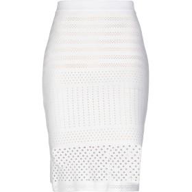 《期間限定 セール開催中》PINKO レディース ひざ丈スカート ホワイト S 64% レーヨン 36% ナイロン
