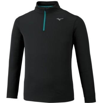 MIZUNO SHOP [ミズノ公式オンラインショップ] ハーフジップTシャツ(長袖)[メンズ] 09 ブラック J2MA9510