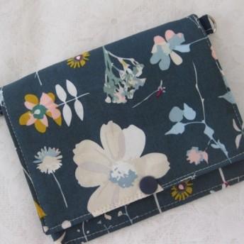 お母様のリクエストが形になりました‼花柄USA生地 療育・障害者手帳ケース付きお財布・通学に便利
