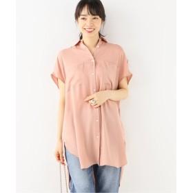 スピック&スパン Wポケット サテンロングシャツ◆ レディース ピンク フリー 【Spick & Span】