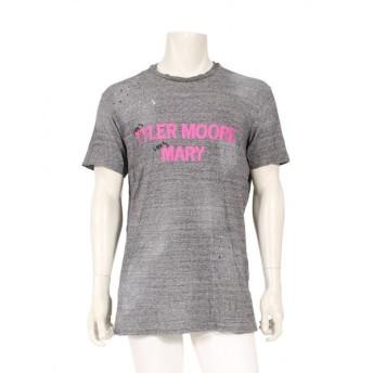 ディースクエアード DSQUARED2 プリント Tシャツ カットソー グレー ピンク メンズ 中古