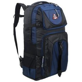 CTIIU バックパック 登山用 バッグ 大容量 60L 防水 丈夫 登山 ザック スポーツ アウトドア 長期旅行 かばん (ブルー)