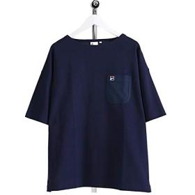 [フィラ] オーバーサイズ 胸ポケット ボートネックTシャツ FM9541 半袖Tシャツ (メンズ レディース) L Peacoat(20)