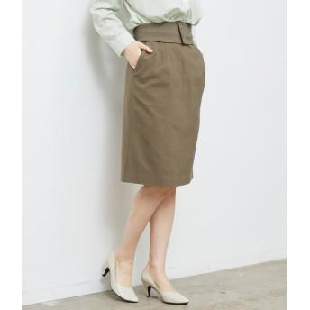 ロペピクニック/ベルト付きタイトスカート/カーキ/38
