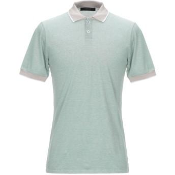 《期間限定セール開催中!》VNECK メンズ ポロシャツ グリーン S コットン 100%