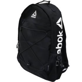 Reebok リーボック ビックロゴ リュック 21.6ℓ 大容量 a4 バックパック フロントストラップ ブランド スポーツリュック (ブラック)