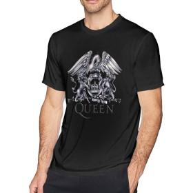 Tシャツ メンズ Queen クイーン 半袖 ブラック 年寄る 通勤 丸えり 夏 通気性 ファション サイズ有り
