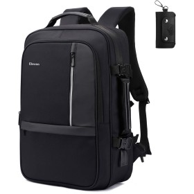 Kaichen ビジネスリュック バックパック PCバッグ リュックサック メンズデイパック55L 大容量 防水 通学、出張、通勤通用USB充電ポート付き 盗難防止 (黒)