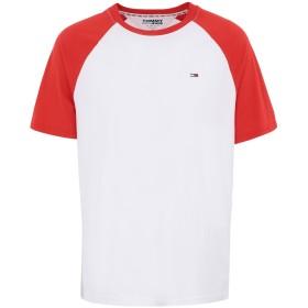 《期間限定 セール開催中》TOMMY JEANS メンズ T シャツ レッド S コットン 100% TJM CONTRAST SLEEVE