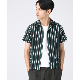 tk.TAKEO KIKUCHI(ティーケー タケオ キクチ) ◆ストライプ開襟半袖シャツ