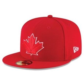 ニューエラ メンズ 帽子 アクセサリー Toronto Blue Jays New Era 2017 Authentic Collection On-Field 59FIFTY Fitted Hat Scarlet