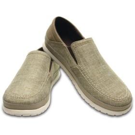 【クロックス公式】 サンタクルーズ プラヤ スリップオン メン Men's Santa Cruz Playa Slip-On メンズ、紳士、男性用 ブラウン/茶 25cm,26cm,27cm,28cm,29cm loafer ローファー 靴 30%OFF