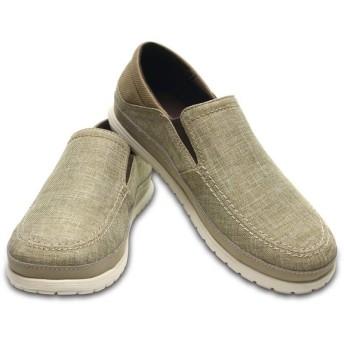 【クロックス公式】 サンタクルーズ プラヤ スリップオン メン Men's Santa Cruz Playa Slip-On メンズ、紳士、男性用 ブラウン/茶 25cm,26cm,27cm,28cm,29cm loafer ローファー 靴 20%OFF
