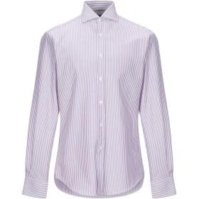 《セール開催中》BRUNELLO CUCINELLI メンズ シャツ パープル M コットン 100%