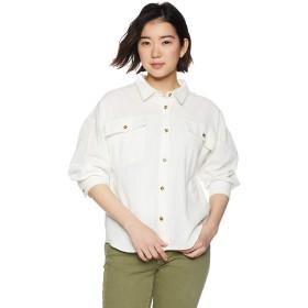 [クリフメイヤー] シャツ レディース おしゃれ 半端袖 長袖 大きいサイズ 春 夏 ガーゼ ワイドシャツジャケット LARGE オフホワイト