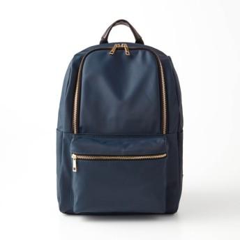 バッグ カバン 鞄 レディース リュック 9ポケットリュックサック カラー 「ネイビー」