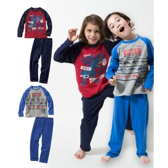 男の子プリントパジャマ2セット組(男の子 子供服。ジュニア服) キッズパジャマ