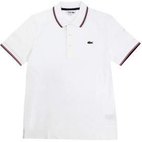 LACOSTE(ラコステ) 半袖 ポロシャツ ワンポイント ウルトラライトニット パイピングシャツ YH7900 (4(日本サイズL), ホワイト(A10)) [並行輸入品]