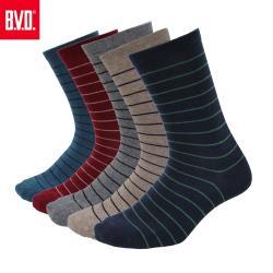 【BVD】細條紋男襪4雙組(B207襪子-長襪)