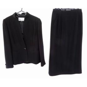 ジュンアシダ JUN ASHIDA スカートスーツ サイズ9 M レディース 黒 ブラックフォーマル【中古】20190804