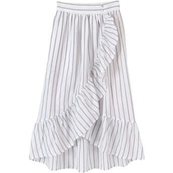 10%OFF titivate (ティティベイト) ラップ風デザインフリルスカート ホワイト