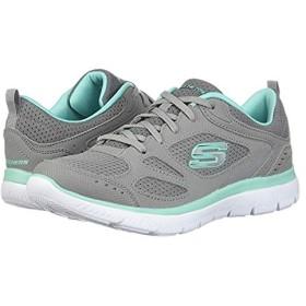 [スケッチャーズ] レディーススニーカー・靴・シューズ Summit - Suited Grey/Turquoise (23.5cm) B - Medium [並行輸入品]