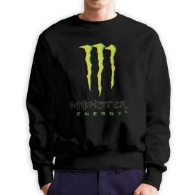 Monster Energy モンスターエナジー クルーネック スウェットシャツ 秋冬トップス カジュアル 長袖 カットソー 100%綿 暖かい ゆったり オシャレ メンズ