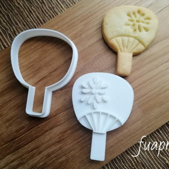 日本☆うちわ クッキーカッター/クッキー型