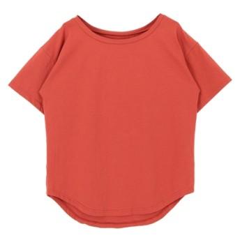 40%OFF titivate (ティティベイト) ラウンドネックベーシックゆるTシャツ オレンジ
