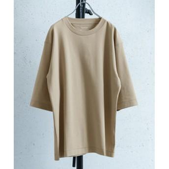 【URBAN RESEARCH:トップス】ポンチ6分袖Tシャツ
