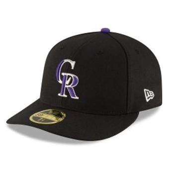 ニューエラ メンズ 帽子 アクセサリー Colorado Rockies New Era Game Authentic Collection On-Field Low Profile 59FIFTY Fitted Hat B