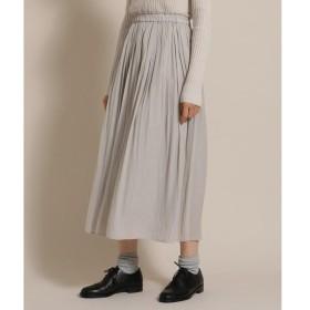 Bon mercerie / ボン メルスリー パウダーサテンプリーツスカート