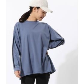 ナージー/ポリコラインTシャツ/ブルー/F