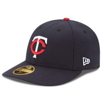 ニューエラ メンズ 帽子 アクセサリー Minnesota Twins New Era Authentic Collection On Field Low Profile Home 59FIFTY Fitted Hat Na