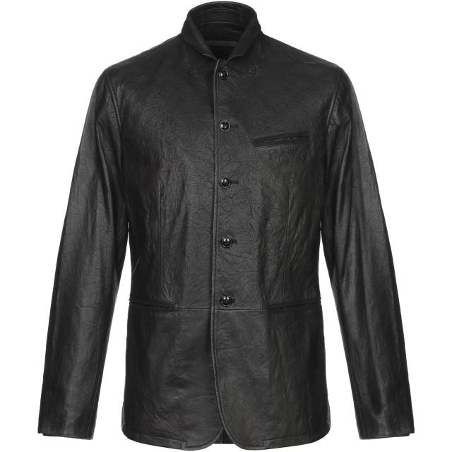 《セール開催中》JOHN VARVATOS メンズ ブルゾン ブラック 46 羊革(ラムスキン) 100%