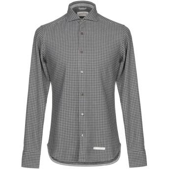 《期間限定セール開催中!》TINTORIA MATTEI 954 メンズ シャツ グレー 38 コットン 100%