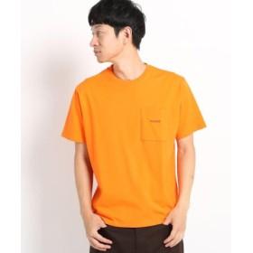 (THE SHOP TK/ザ ショップ ティーケー)【WEB/一部店舗限定/USAコットン】クルーネックカラービッグTシャツ/メンズ オレンジ(067)