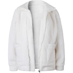 VITryst レディースジップアップロングスリーブジャケットカシミアセーター純正コート Off-White M