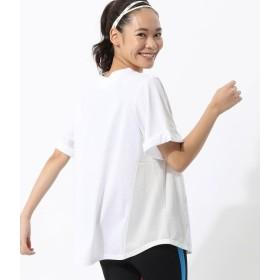 ナージー/メッシュスポーツヒラTシャツ AW/ホワイト/F